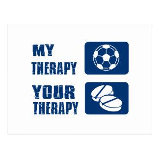 Diseños de la terapia del fútbol postales