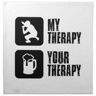 Diseños de la terapia del rap servilletas de papel