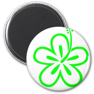 Diseños de la verde lima imán redondo 5 cm