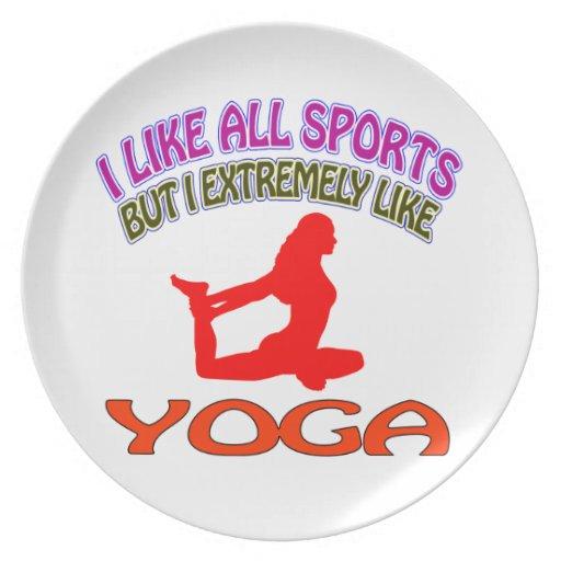 Diseños de la yoga plato para fiesta