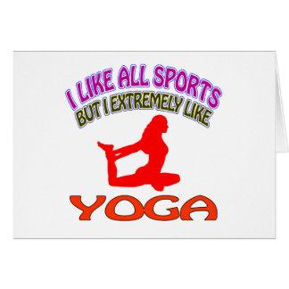 Diseños de la yoga tarjetón