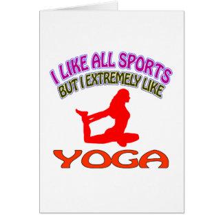 Diseños de la yoga tarjeta