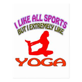 Diseños de la yoga postales