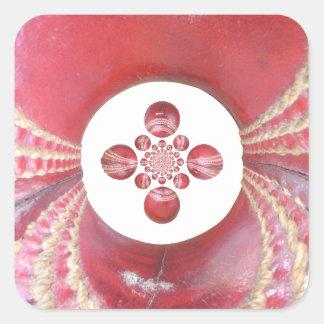 Diseños de las bolas de grillo del matata de pegatinas cuadradas personalizadas