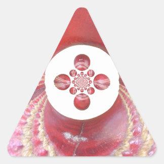 Diseños de las bolas de grillo del matata de calcomanía trianguloada