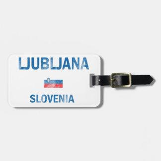 Diseños de Ljubljana Eslovenia Etiqueta Para Equipaje