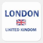 Diseños de Londres Reino Unido Calcomanía Cuadradas Personalizadas