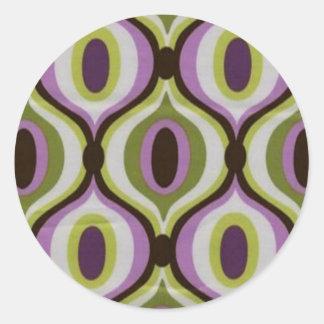 diseños de los años 70 pegatina redonda