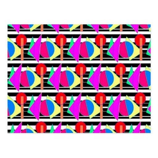 diseños de los años 80 tarjetas postales