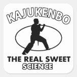 Diseños de los artes marciales de Kajukenbo Pegatinas Cuadradas Personalizadas