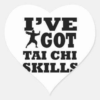 Diseños de los artes marciales de la ji del Tai Pegatina En Forma De Corazón