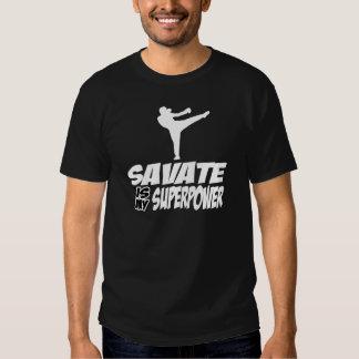 Diseños de los artes marciales de Savate Playera