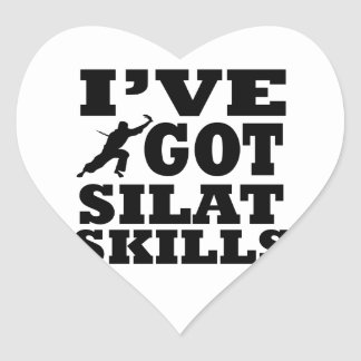 Diseños de los artes marciales de Silat Pegatina En Forma De Corazón