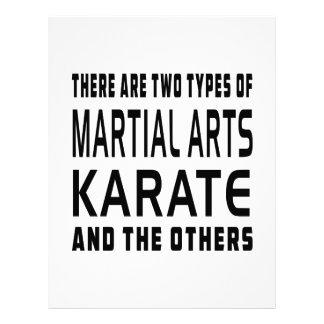 Diseños de los artes marciales del karate plantillas de membrete