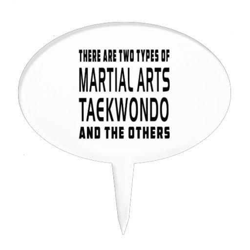 Diseños de los artes marciales del Taekwondo Decoraciones De Tartas