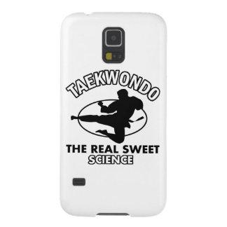Diseños de los artes marciales del Taekwondo Funda Para Galaxy S5