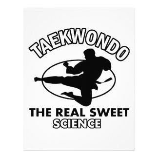 Diseños de los artes marciales del Taekwondo Membretes Personalizados