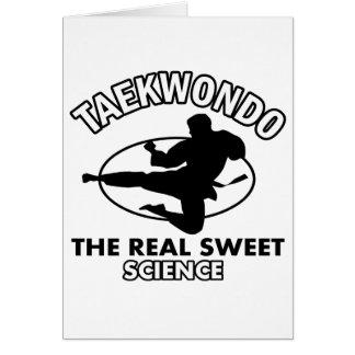 Diseños de los artes marciales del Taekwondo Tarjeta De Felicitación