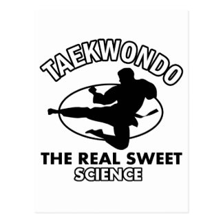 Diseños de los artes marciales del Taekwondo Tarjeta Postal