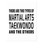 Diseños de los artes marciales del Taekwondo Postal