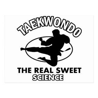 Diseños de los artes marciales del Taekwondo Tarjetas Postales