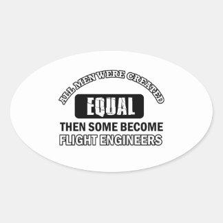 Diseños de los ingenieros de vuelo calcomanía óval