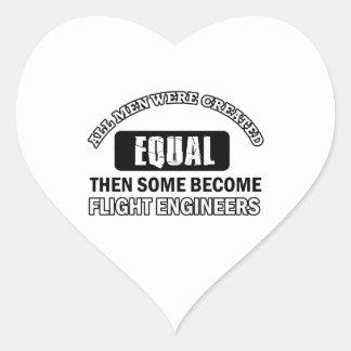 Diseños de los ingenieros de vuelo calcomanía de corazón personalizadas
