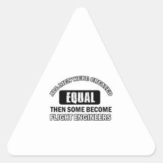 Diseños de los ingenieros de vuelo pegatinas de triangulo