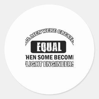 Diseños de los ingenieros de vuelo pegatina redonda