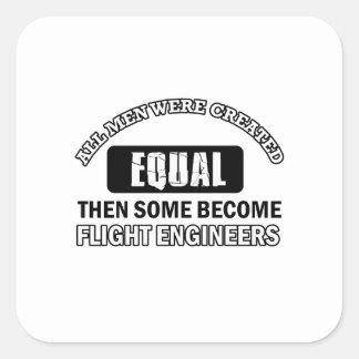 Diseños de los ingenieros de vuelo pegatinas cuadradas