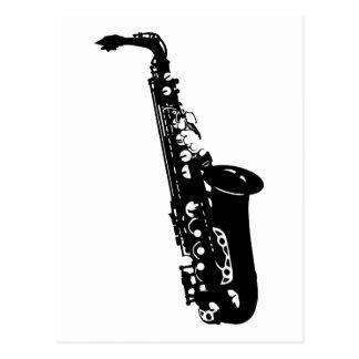 Diseños de los músicos del saxofón del instrumento