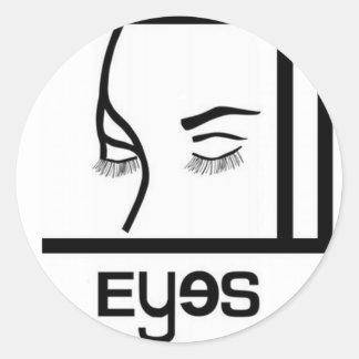 diseños de los ojos pegatina redonda
