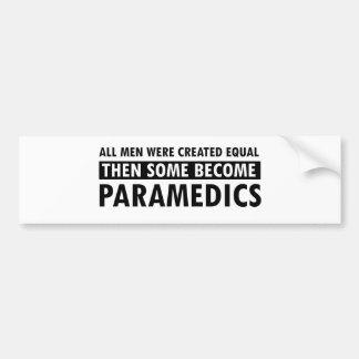 Diseños de los paramédicos pegatina de parachoque