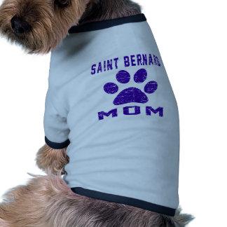 Diseños de los regalos de la mamá de St Bernard Camisas De Mascota