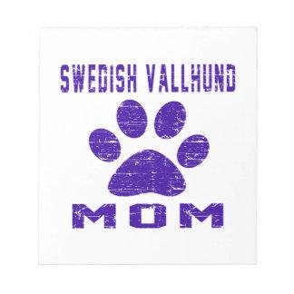 Diseños de los regalos de la mamá de Vallhund del Blocs De Notas