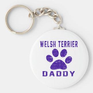Diseños de los regalos del papá de Terrier galés Llaveros