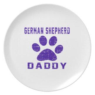 Diseños de los regalos del papá del pastor alemán plato para fiesta