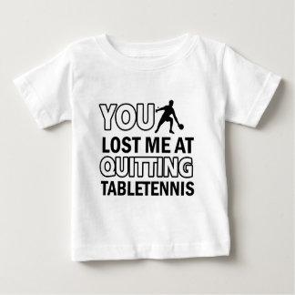 Diseños de los tenis de mesa tee shirt