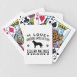 Diseños de Malinois del belga Baraja Cartas De Poker