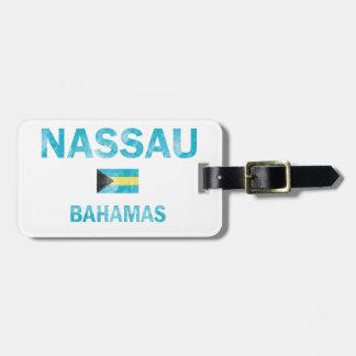 Diseños de Nassau Bahamas Etiquetas Bolsa