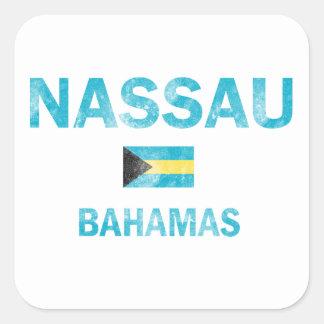 Diseños de Nassau Bahamas Pegatina Cuadrada