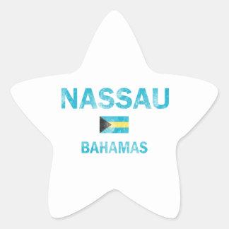 Diseños de Nassau Bahamas Pegatina En Forma De Estrella