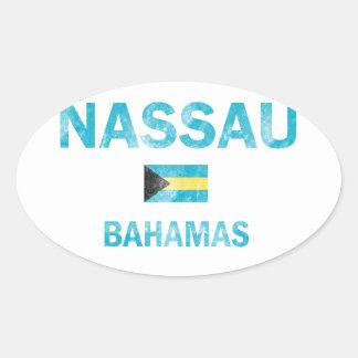 Diseños de Nassau Bahamas Pegatina Ovalada