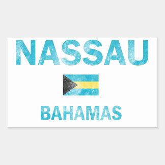Diseños de Nassau Bahamas Pegatina Rectangular