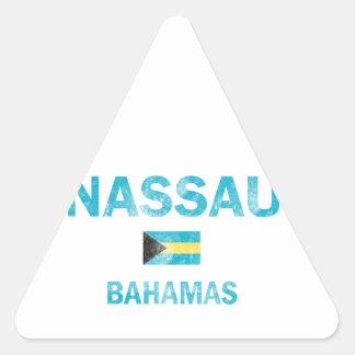 Diseños de Nassau Bahamas Pegatina Triangular