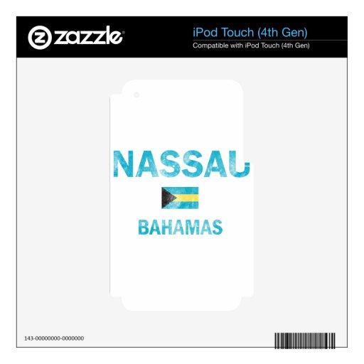 Diseños de Nassau Bahamas Calcomanía Para iPod Touch 4G