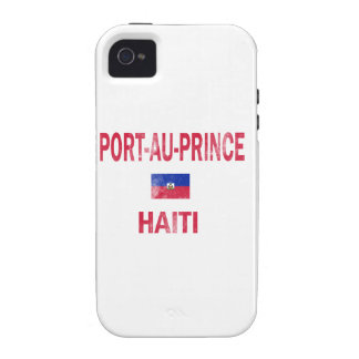 Diseños de príncipe Haití del Au del puerto iPhone 4/4S Carcasas
