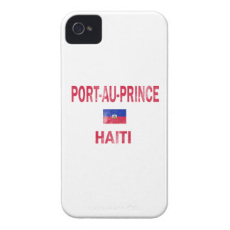 Diseños de príncipe Haití del Au del puerto iPhone 4 Carcasas