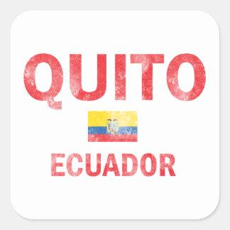 Diseños de Quito Ecuador Pegatina Cuadradas Personalizada