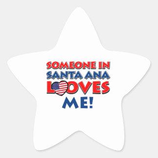 diseños de Santa Ana los E.E.U.U. Pegatina En Forma De Estrella